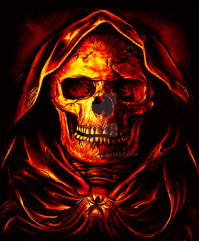 Skull in fire by f c porto on deviantart skull in fire by f c porto voltagebd Choice Image