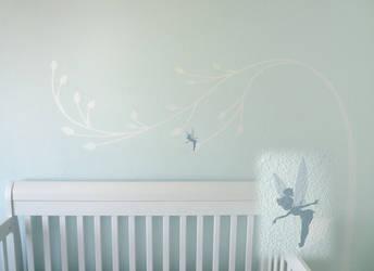 Nursery Wall - Tinkerbell Tree by BreakTheDay