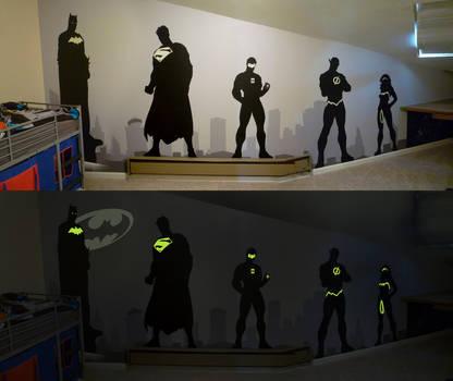 Superhero Wall by BreakTheDay