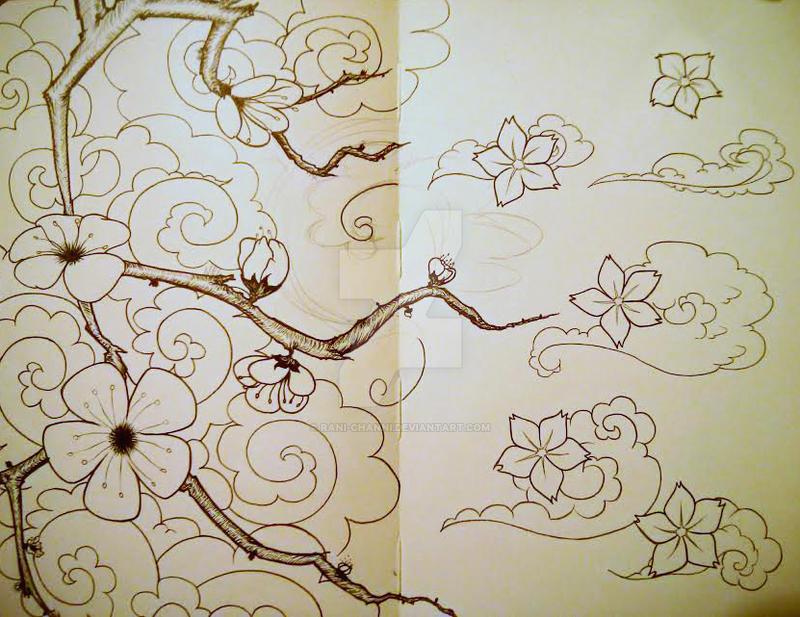 Plum and Sakura Blossoms by Rani-channi