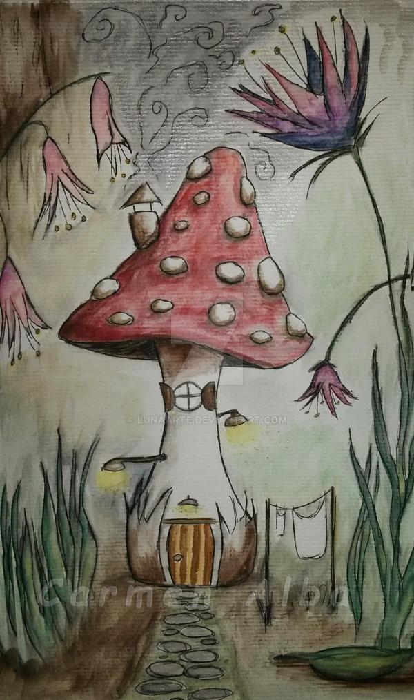 Home, mushroom home by LunaArte