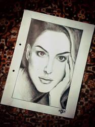Portrait of Natalie Portman by mirazrahman