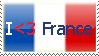 I -heart- France Stamp by dreamer5208