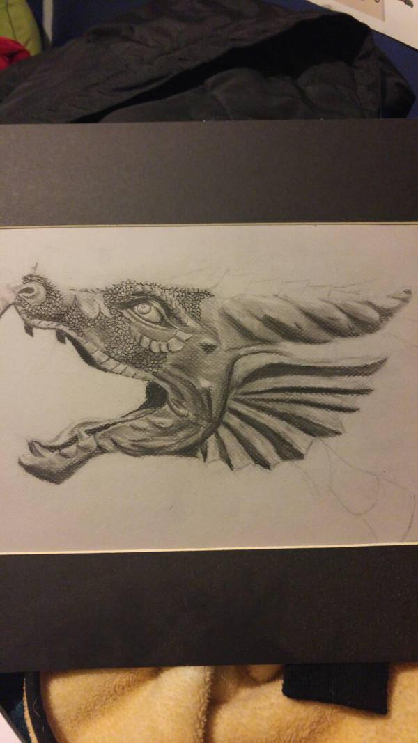 charcoal dragon by Thaxim