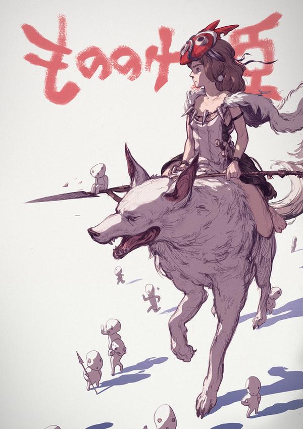 Princess Mononoke by MikeJordana