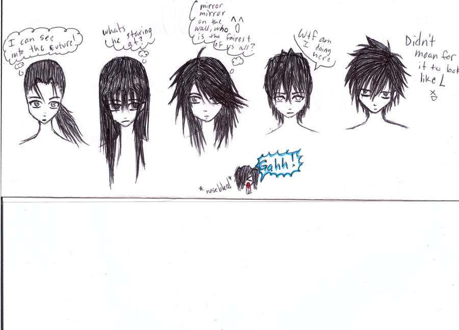 (Anime Guy Hair Styles by ~Kema47 on deviantART). guys hair style