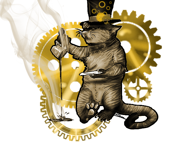 Steampunk kitty cat by sidemoon