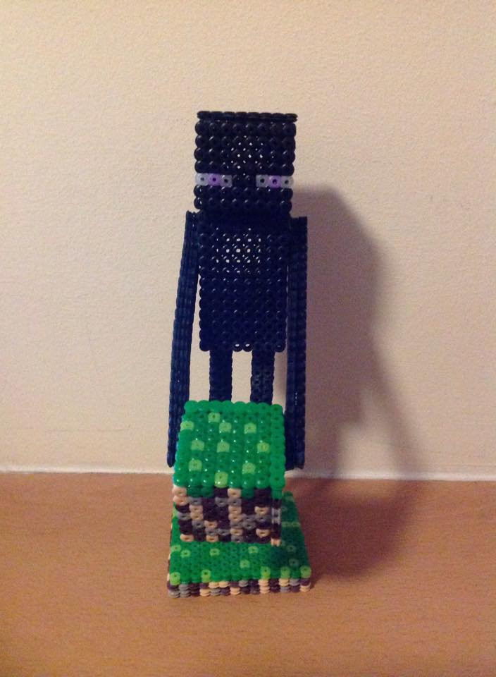 3d Enderman Perler Hama Bead Statue By Beckyscustoms On