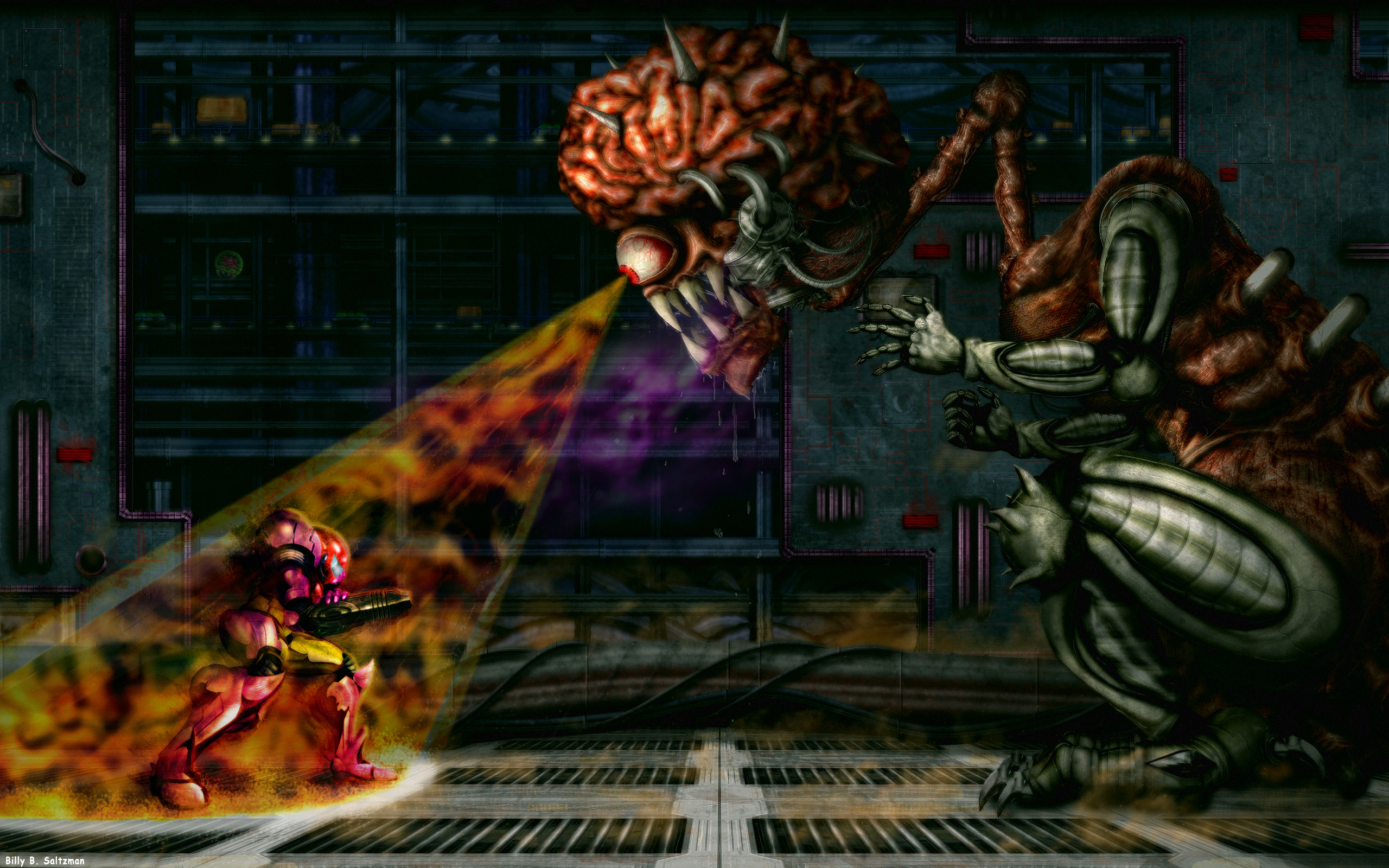 Super Metroid: Final Boss HD by Billysan291