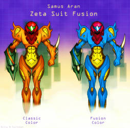 Metroid Fusion Zeta Suit by Billysan291