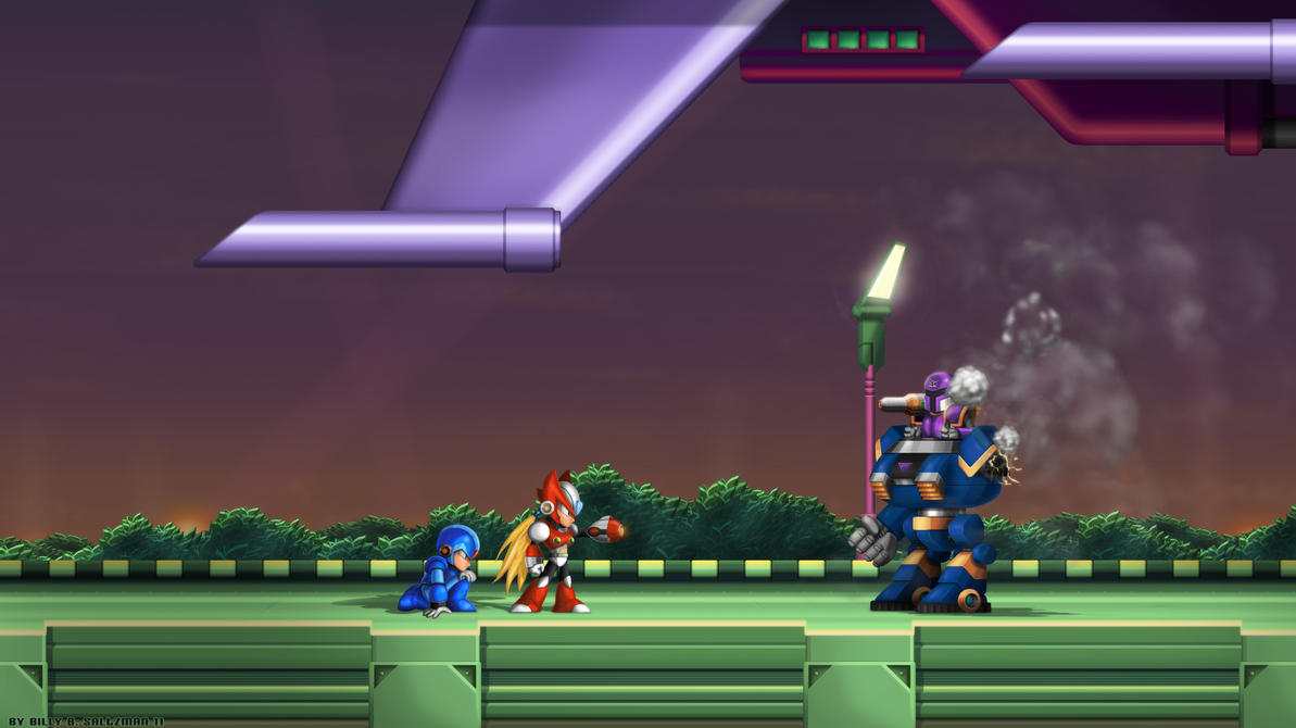 Mega Man X1 Zero Defense WIDE by Billysan291