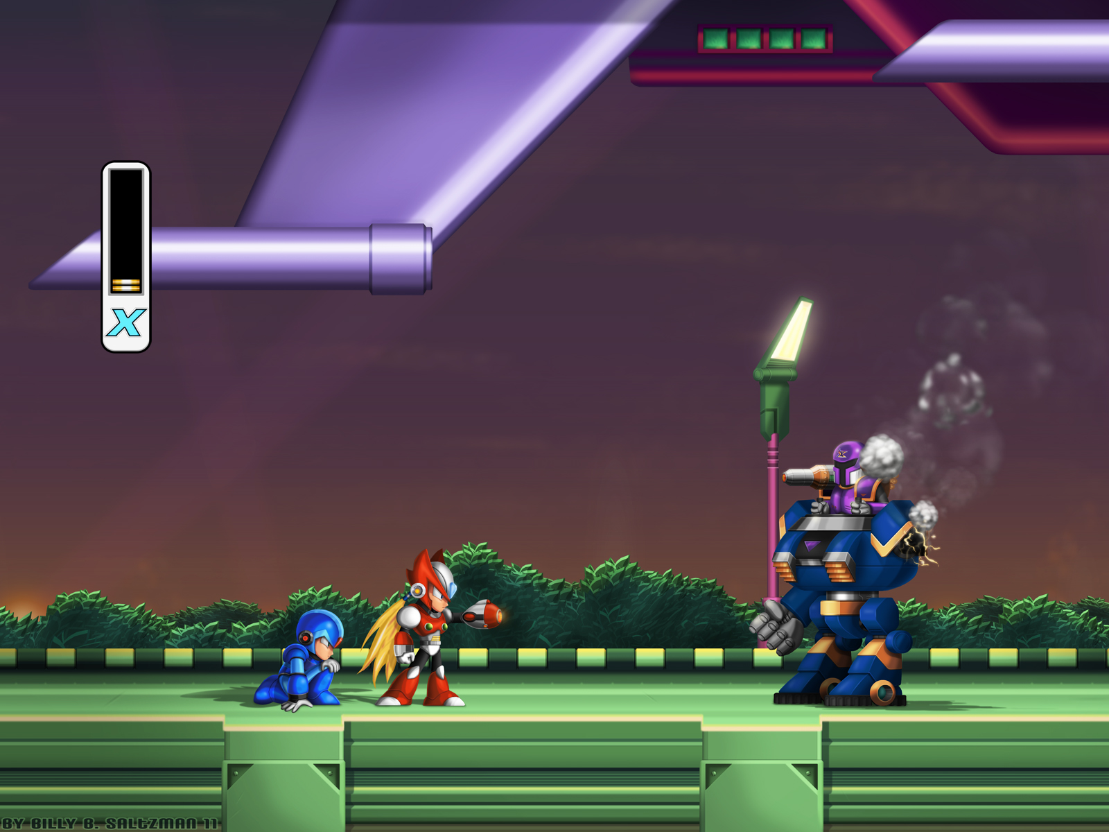 Mega Man X1 Zero Defense FULL by Billysan291