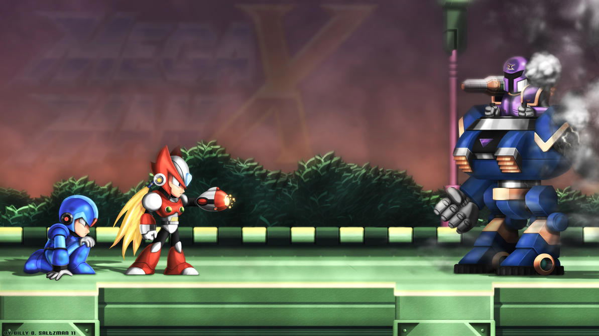 Mega Man X1 Upclose with ZX by Billysan291