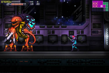 Metroid Fusion Final Boss GBA