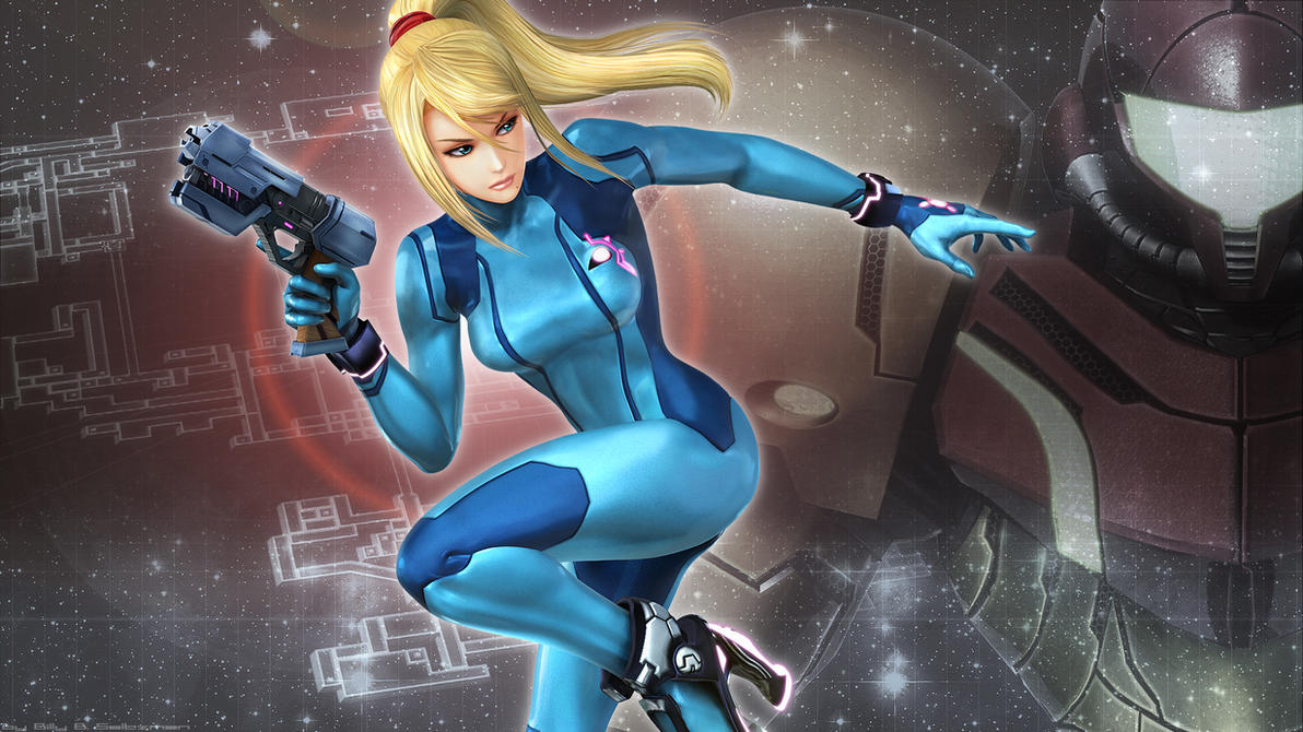 Samus in Smash Bros. by Billysan291