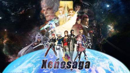 Xenosaga Poster Wallpaper Logo