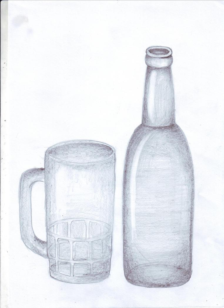 Menggambar Botol dan Gelas by Sukiman88