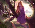 Enchanting forest | Rapunzel fanart +speedpaint