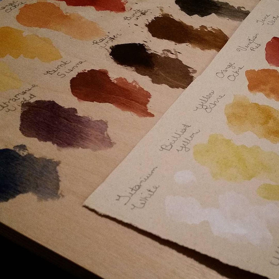 Watercolor Paint Tests by lavonia