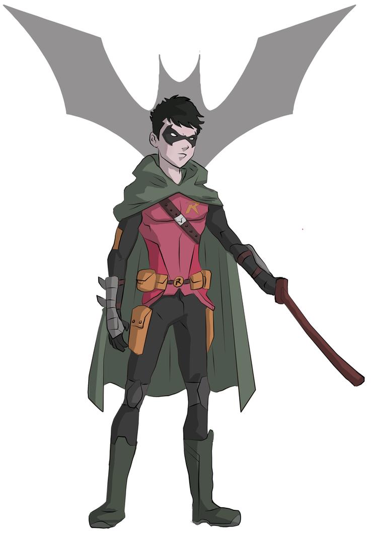 Damian Wayne - Robin by cspencey