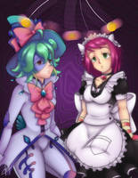 Hypnotized Rin and Sonia by HirotoStar