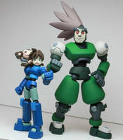 Blue Hero and Green Pirate