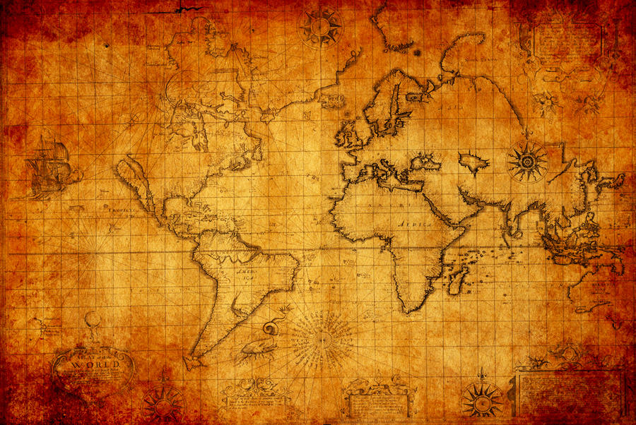 Antique World Map by Nekkarius on DeviantArt