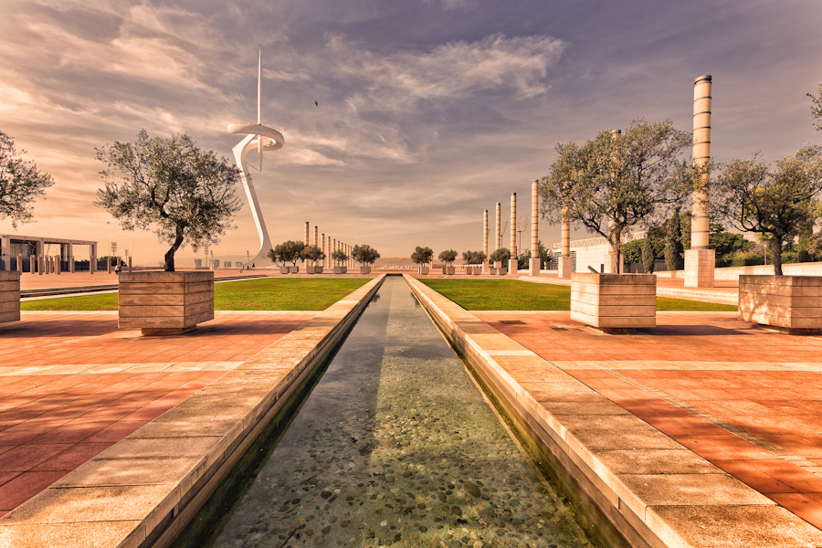 Olympic Area Barcelona by hessbeck-fotografix