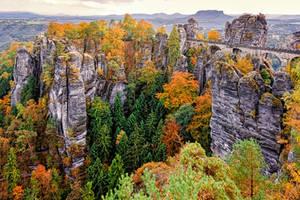 Saxon Switzerland in Autumn by Stefan-Becker