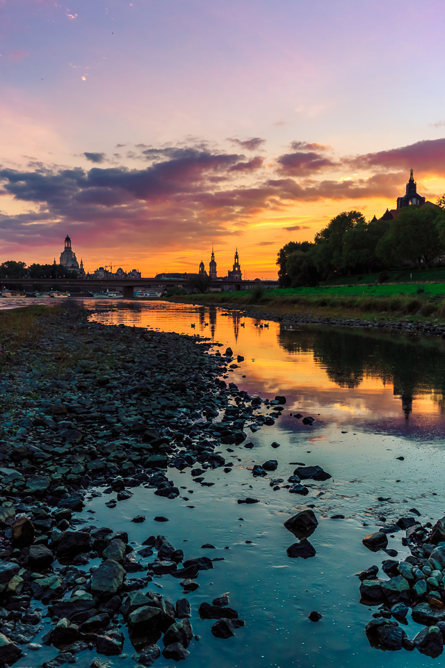 Sunset over Dresden by hessbeck-fotografix