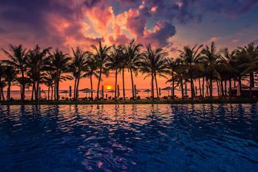 Sunset over Phu Quoc Island by Stefan-Becker