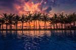 Sunset over Phu Quoc Island