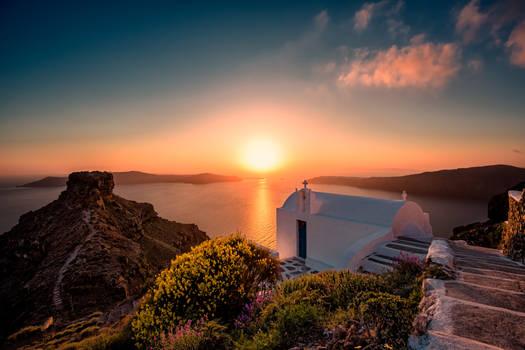 Sunset at Santorini (Thira), Greece