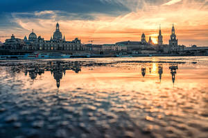 Sunset over Dresden by Stefan-Becker