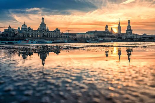 Sunset over Dresden