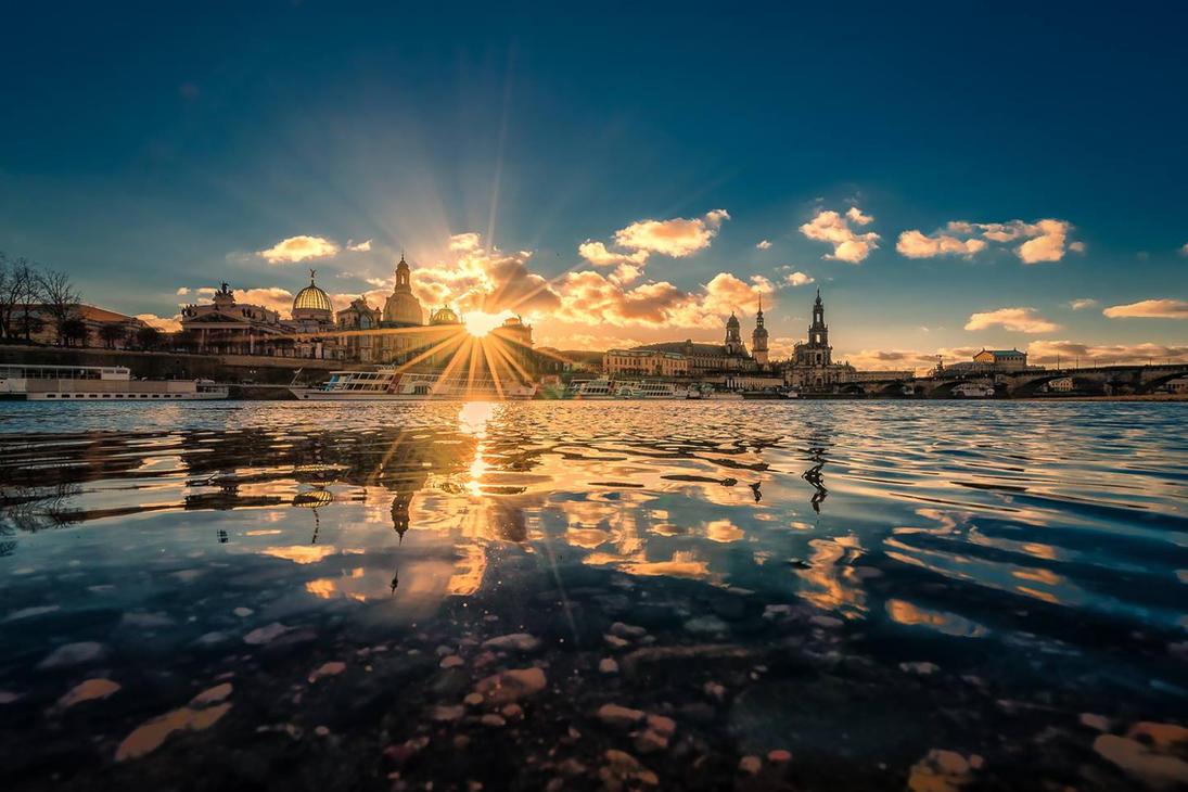 Dresden Skyline by hessbeck-fotografix
