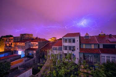 Thunder over Porto by Stefan-Becker