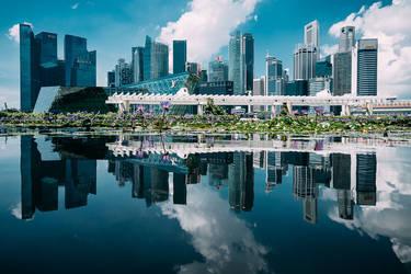 Singapore Skyline by Stefan-Becker