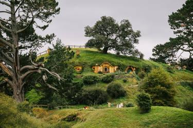 Bag-End, Hobbiton, New Zealand by Stefan-Becker
