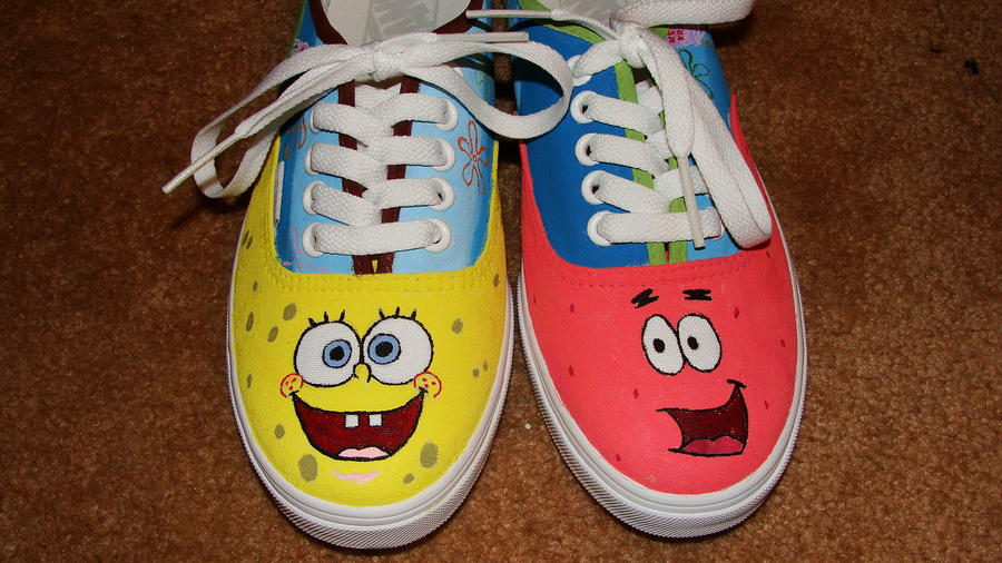 Spongebob Shoes 1 By Theatreshoesdesigns On Deviantart 310f454fd
