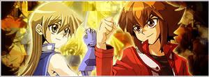 Judai and Asuka Banner