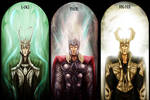 Loki, Thor and Balder
