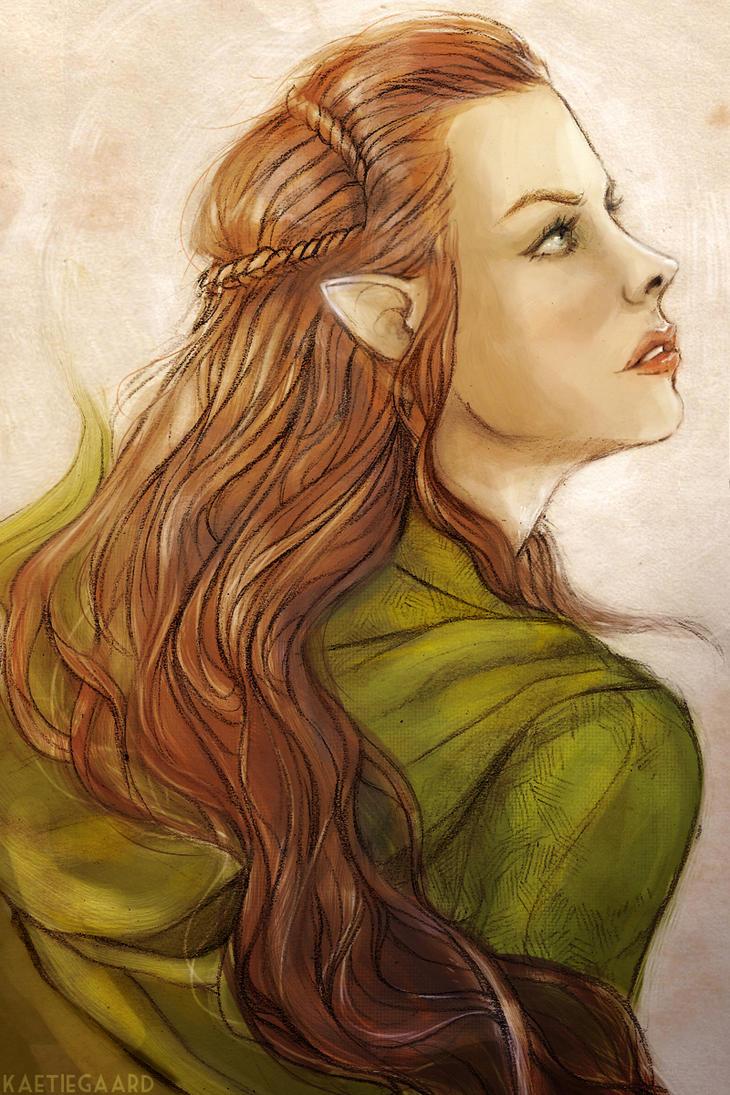 Tauriel, daughter of Mirkwood by kaetiegaard