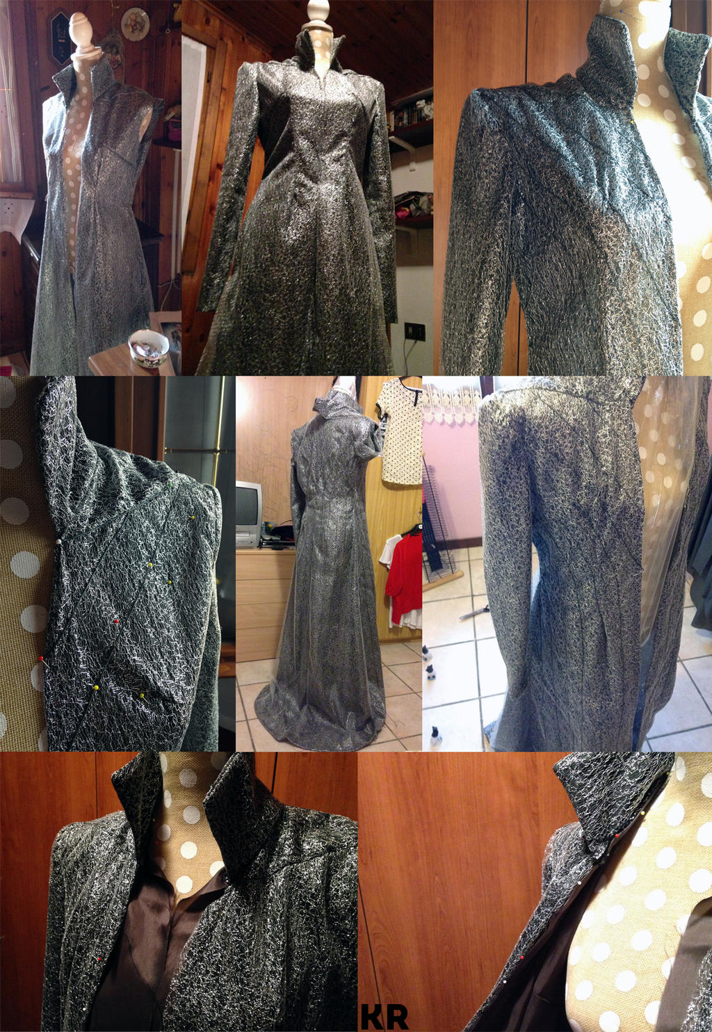 The Hobbit: Thranduil's Coat WIP by kaetiegaard
