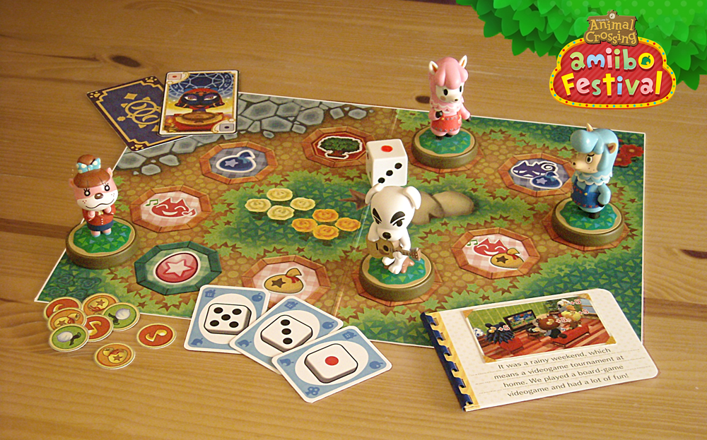 animal crossing amiibo festival board game display amiibo