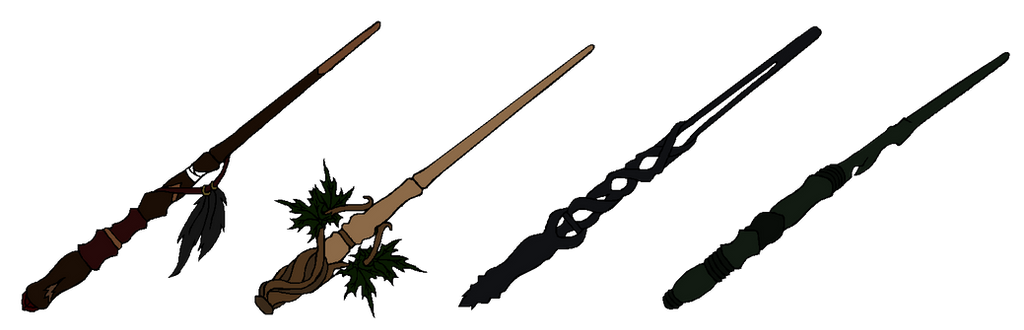 The Wands of the four Founders by DarkLordLuzifer on ...