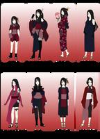 NARUTO OC - Natsuko, the Wife of Kakashi WARDROBE by Yami-no-Takemaru