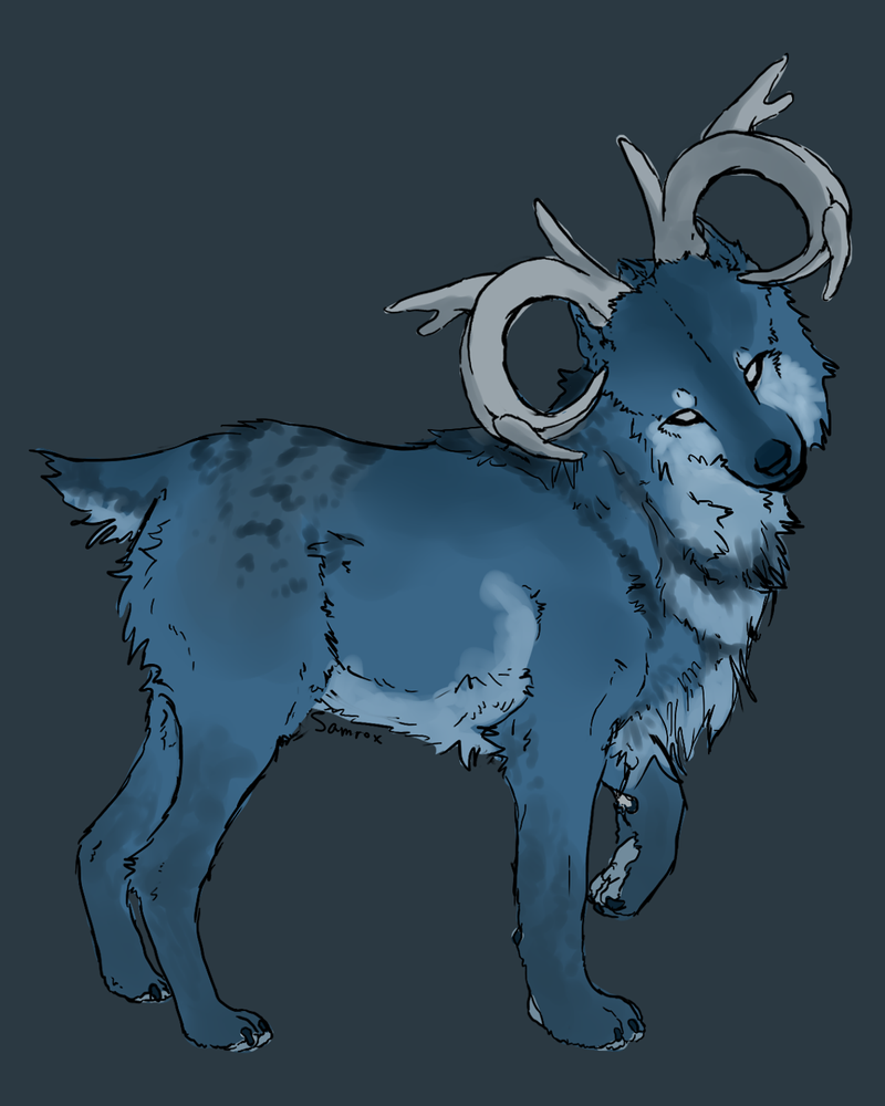 Wolf-Deer Adoptable -CLOSED- by Tonrotea