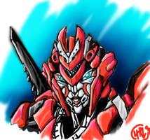 Revenge Arcee Head Study Color by Th4rlDEAL