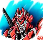 Revenge Arcee Head Study Color